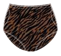 Printed Nylon Double Ball Pocket Panty -  41412 199