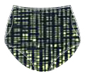 Printed Nylon Double Ball Pocket Panty -  41412 200