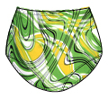 Printed Nylon Double Ball Pocket Panty -  41412 210