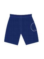 Nylon Single Ball Pocket Court Short - 42123 NAVP