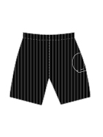 Nylon Single Ball Pocket Court Short - 42123 BLKR