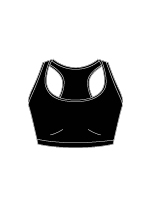 Techwear Racer Back Sports Bra -  42330 BLK