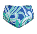 Printed Micro-polyester Low-Rise French Cut Panty  41415 213
