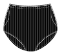Nylon Double Ball Pocket Panty - 41112 BLKR