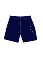 Nylon Single Ball Pocket Short Short - 42122 NAV